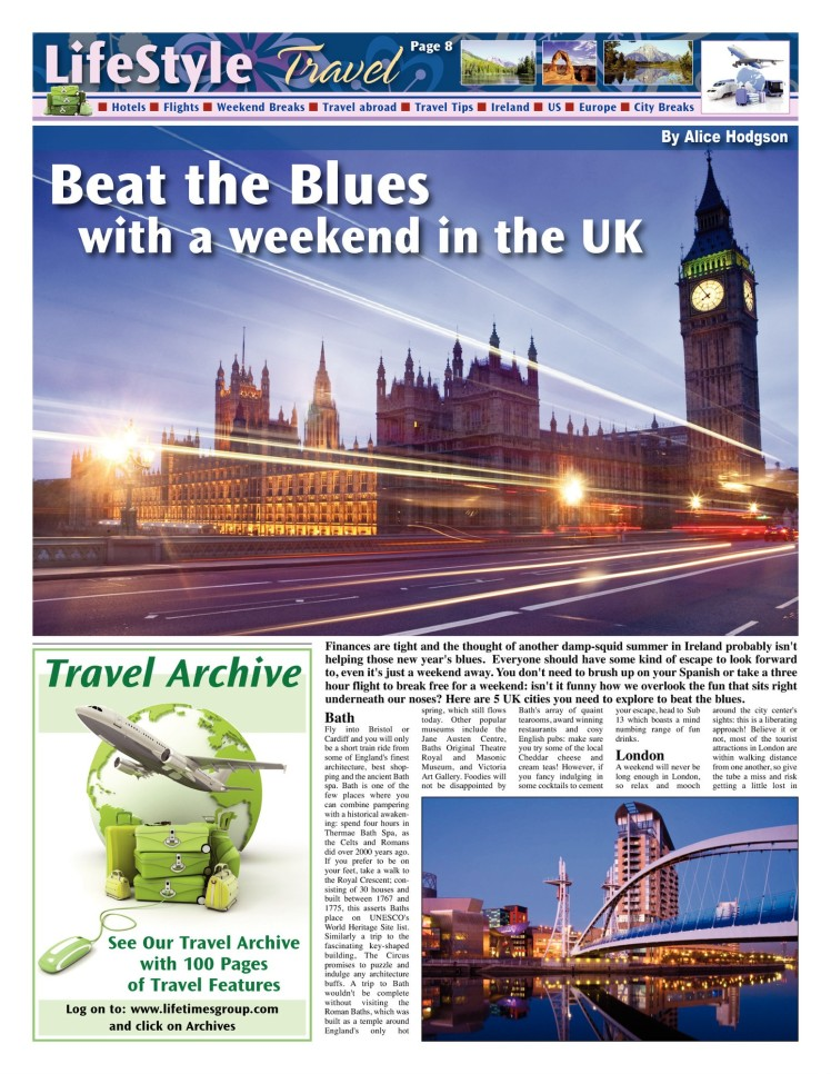 Beat the Blues with a weekend in the UK